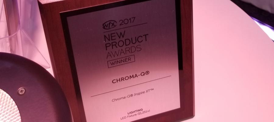 Chroma-Q Inspire XT Awarded New Product Award at WFX 2017