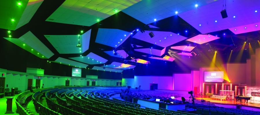 Chroma-Q Inspire House Lights Transform Pleasant Valley Baptist Church
