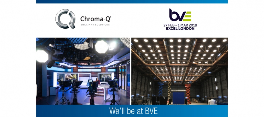 Chroma-Q Showcases Award-Winning Broadcast LED Lighting Solutions at BVE Expo 2018