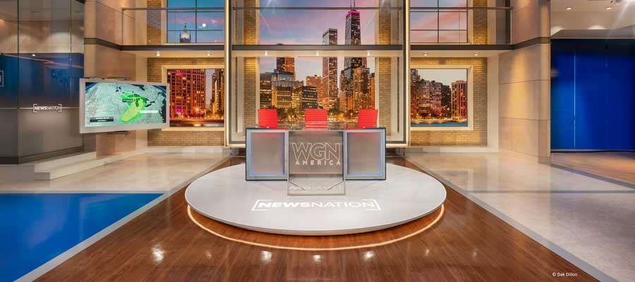 Chroma-Q® Fixtures Highlight WGN News Nation