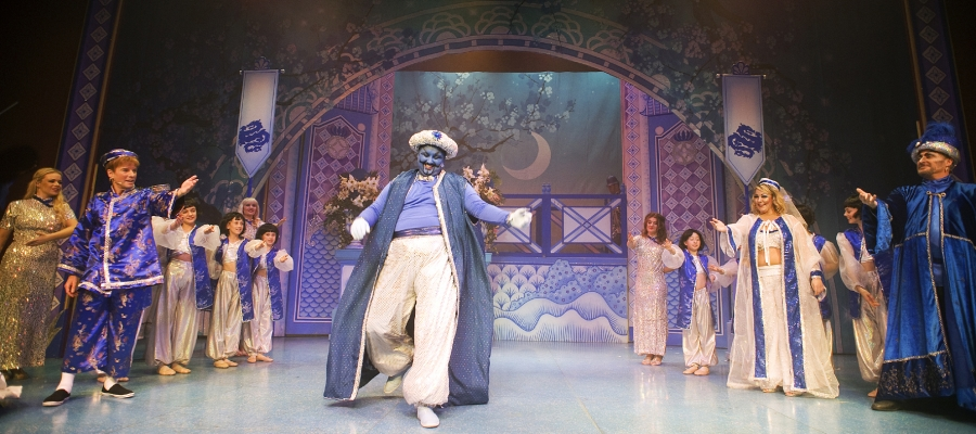 Chroma-Q Color One 100 LED Pars Beam Brightly for Aladdin at Worthing's Connaught Theatre