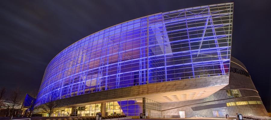 Chroma-Q Color One 100s Beam Powerful Colors Outside the BOK Center