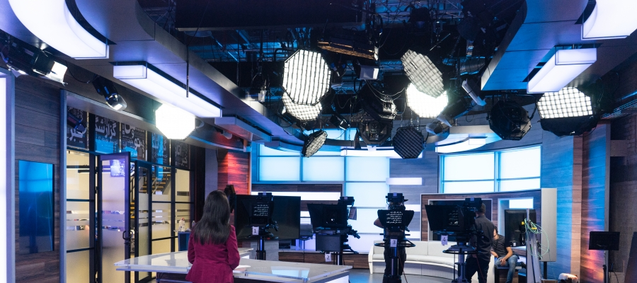 Chroma-Q Space Force Fixture Provides Powerful Soft Lighting for Marjan Television Network Studios
