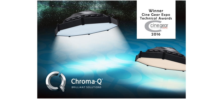 Chroma-Q Space Force LED Wins Best Lighting Product at Cine Gear Expo Technical Awards