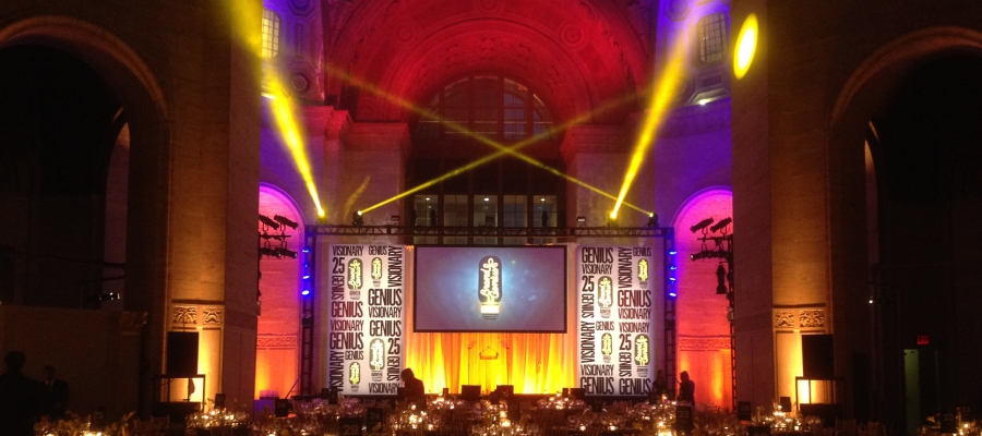 Chroma-Q Color Force LEDs Supplied by 4Wall New York for CLIO Events