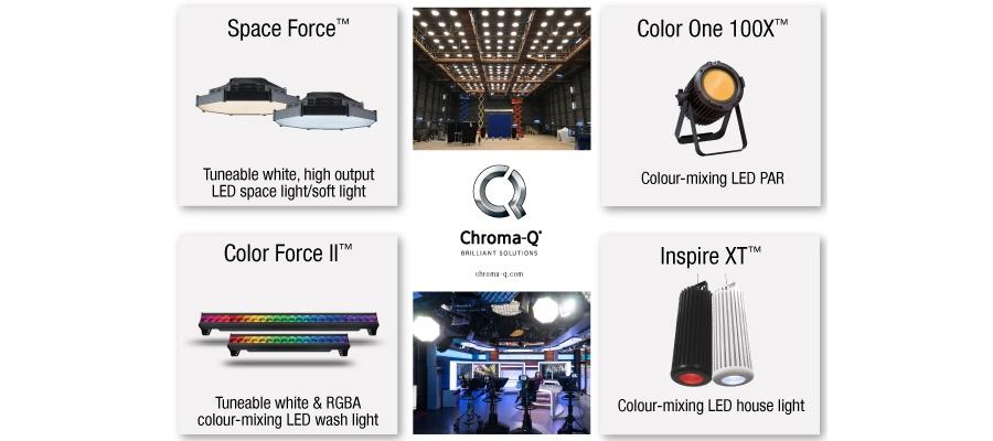 Chroma-Q Showcases Award-Winning Film & TV LED Lighting Solutions at BSC Expo 2018