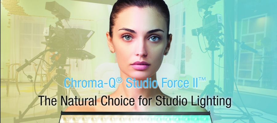 Chroma-Q Studio Force II Natural Choice for Studio Lighting Makes UK Debut at PLASA Focus Leeds 2018
