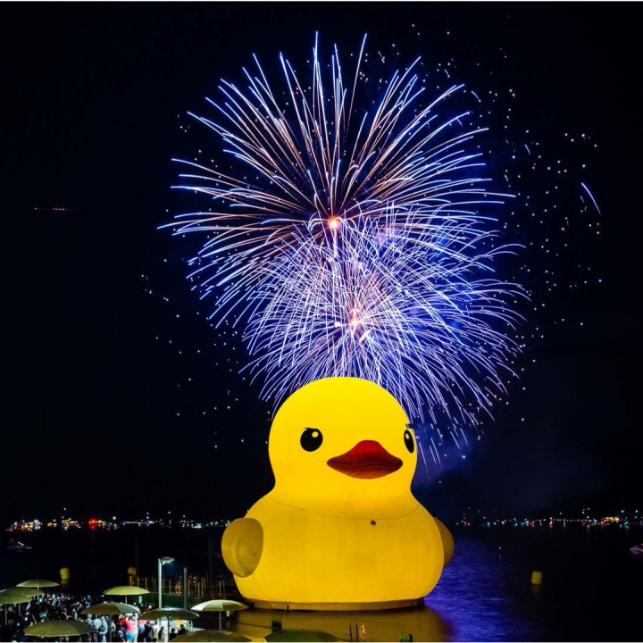 Worlds Largest Duck Lights the Night at Toronto Harbour Over Canada Day Weekend Illuminated by Chroma-Q Studio Force luminaires