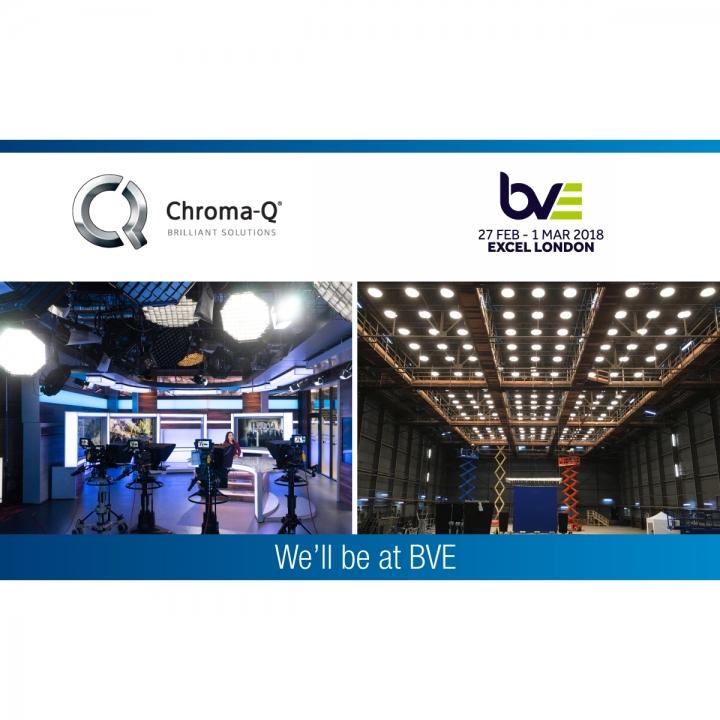 Chroma-Q Showcases Award-Winning Broadcast LED Lighting Solutions at BVE Expo 2018