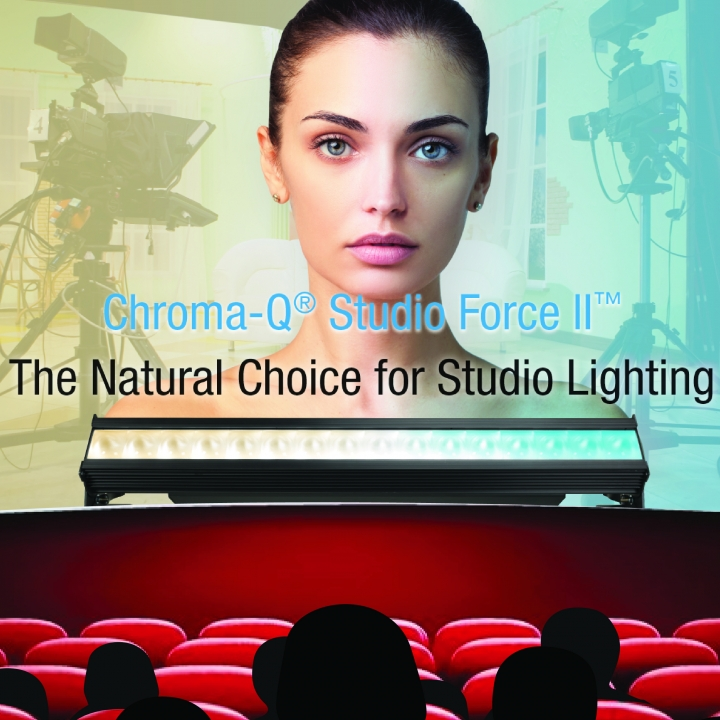 Chroma-Q Studio Force II Natural Choice for Studio Lighting Makes UK Debut at PLASA Focus Leeds 2018