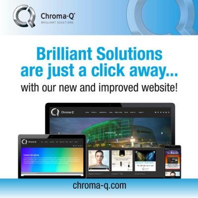 Chroma-Q Celebrates its 15th Year of LED Lighting Innovation with New Website