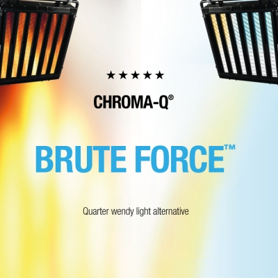 Chroma-Q Brute Force deliver low energy versatility with gaffer David Sinfield