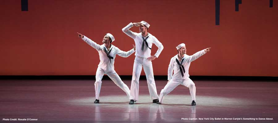 New York City Ballet in Warren Carlyle's Something to Dance About. Photo credit Rosalie O'Connor
